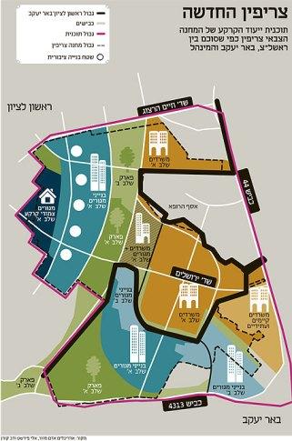 תכנית חלוקת שטח מחנה צריפין