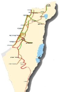 מפת נתיבי ישראל