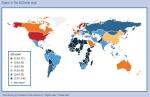 דירוג תחרותיות המדינות - מפה