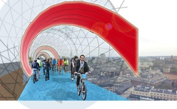 בלונדון רוצים להרים את נתיבי האופניים לאוויר