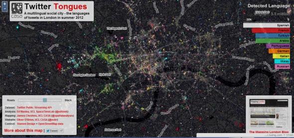 מפת השפות בלונדון