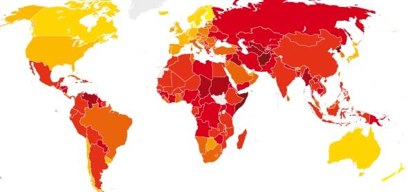 המדינות המושחתות בעולם