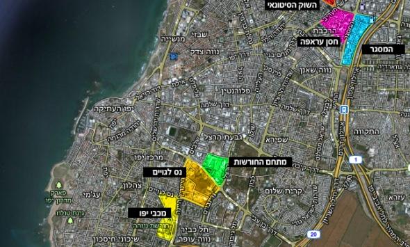 המתחמים החדשים של תל אביב