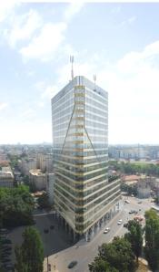 יורו-טאוור, בוקרשט, רומניה - הבניין הירוק הראשון