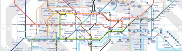 מפת הרכבת התחתית של לונדון - אייקון עיצובי