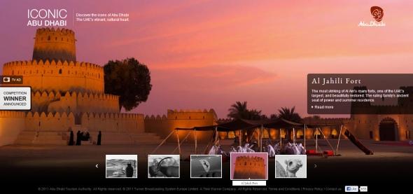 אתר התיירות  של אבו דאבי