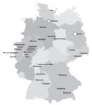 הערים המבטיחות ביותר בגרמניה מפה