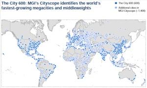 הערים המובילות את הכלכלה העולמית. מקינזי