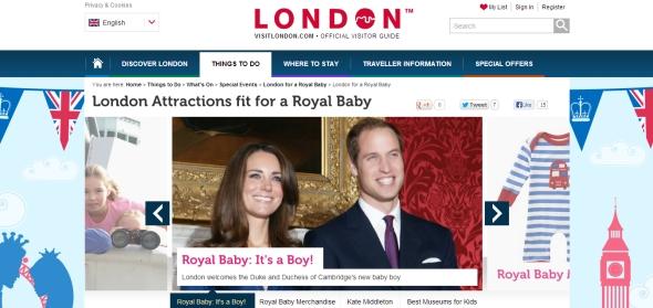 רק נולד, וכבר הוא עובד - התינוק המלכותי מקדם תיירות