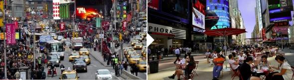 טיימס סקוור- לפני ואחרי
