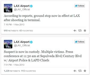 שדה התעופה לוס אנג'לס מצייץ