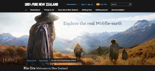 אתר התיירות של ניו זילנד