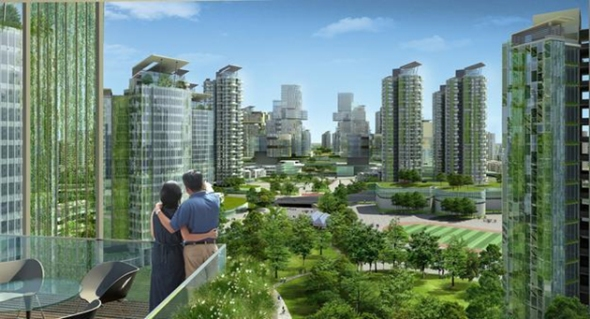 טאיג'ין, העיר האקולוגית בסין שמתוכננת לאכלס 350,000 איש עד שנת 2020