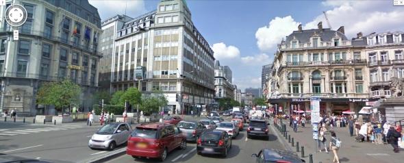 האם שדרה זו בבריסל תיסגר למכוניות פרטיות? Boulevard Anspach