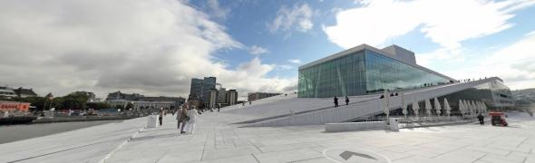 הגג של בית האופרה באוסלו