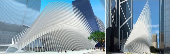 תחנת המטרו, מרכז הסחר העולמי בניו יורק בתכנון סנטייגו קלטרווה