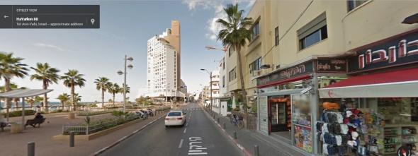 רחוב הירקון תל אביב: פיצוציות והשכרת רכב