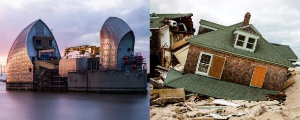 ניו ג'רזי אחרי הוריקן סנדי וסכר התמזה בלונדון