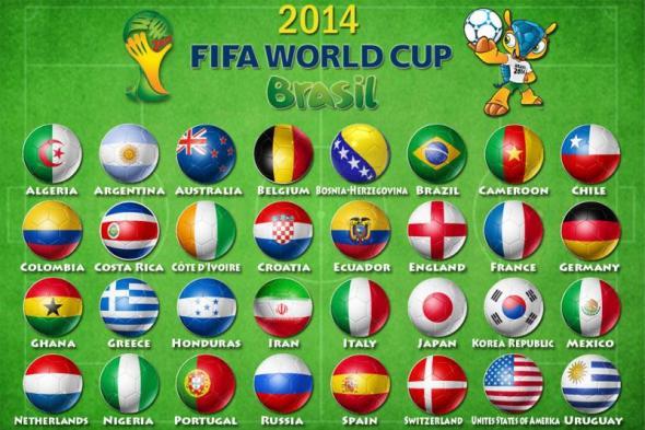גביע העולם בכדורגל, ברזיל 2014 - המדינות המשתתפות