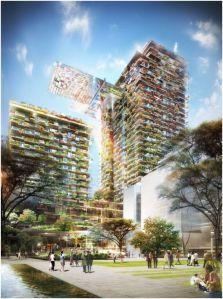 מפלי צמחייה על בניין בסידני