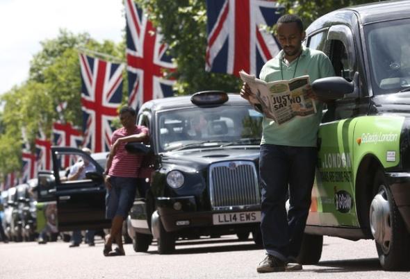שביתת מוניות בלונדון נגד אובר