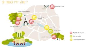 שיתוף אופניים לילדים בפריז. התחנות
