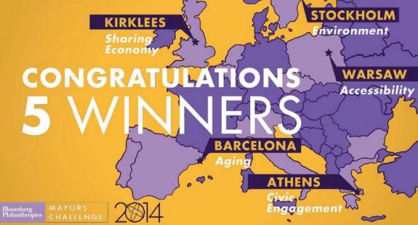 הערים הזוכות בתחרות בלומברג