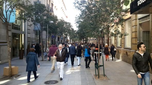 רחוב פואנקרל, מדריד - נסגר לתנועת מכוניות