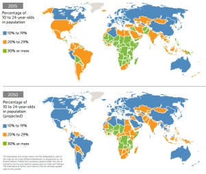 אחוז הצעירים באוכלוסייה