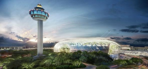 סינגפור - עיר בתוך גן כבר בשדה התעופה