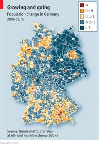 התכווצות אוכלוסיית גרמניה