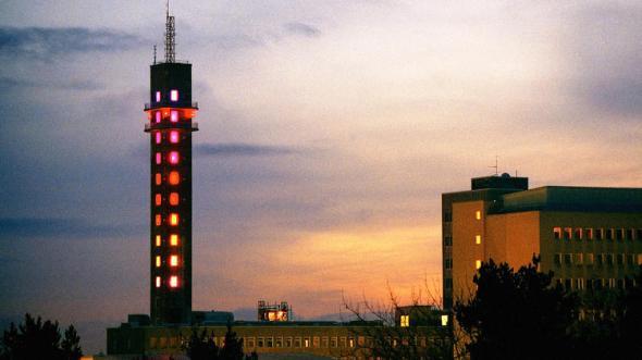 בניין מחליף צבעים בשטוקהולם