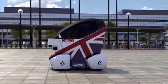 מכונית אוטונומית כתחבורה ציבורית. בריטניה