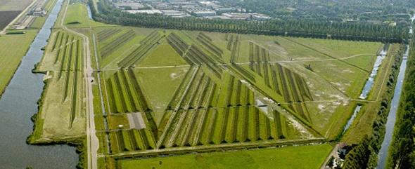 פארק מפחית רעש מטוסים. אמסטרדם